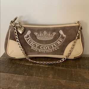 Nwot Juicy Couture P&G clutch w/ leather trim